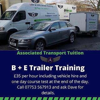 B+E Trailer Training Midlands ATT