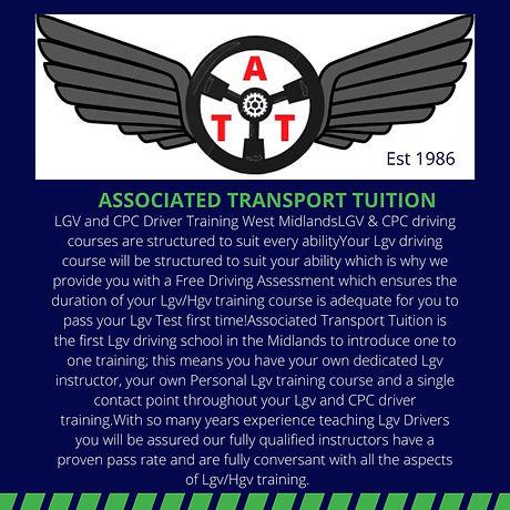 ATT  CPC LGV HGV Driver Training Midlands