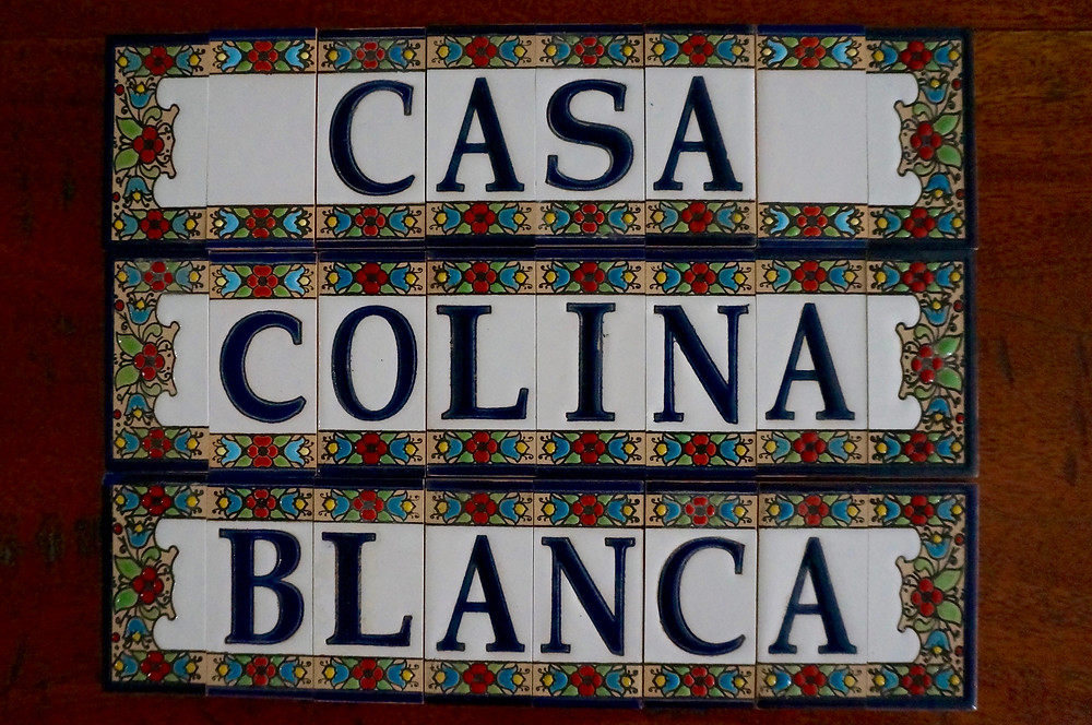 Casa Colina Blanca plaque design ready for fixing.