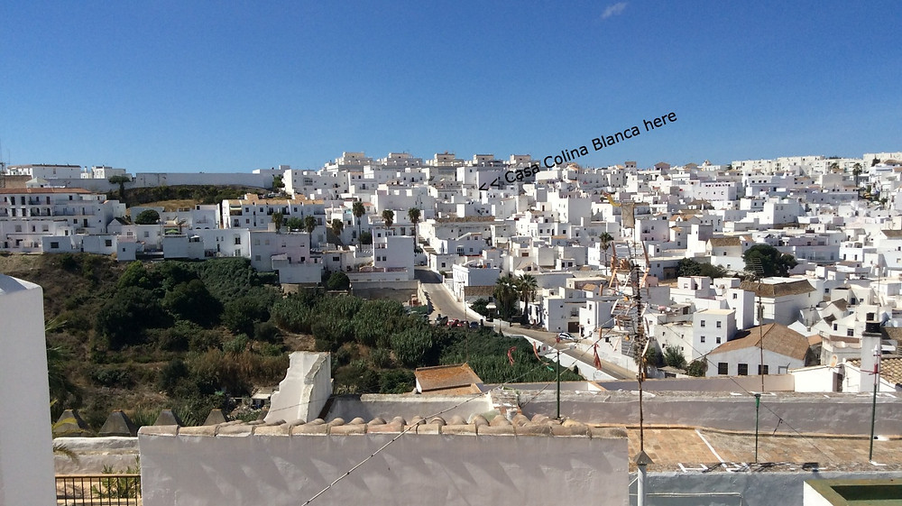 View from Vejer castle, looking west.