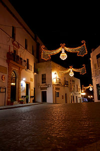 Plazuela, Vejer, Christmas night