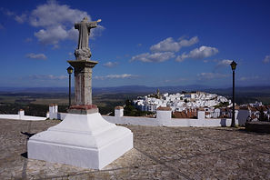 Looking down over Vejer
