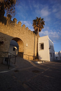 Arco de la Puerta Cerrada, Vejer, evening light