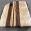 Thumbnail: Small Flame Birch Cuttingboard with Off-Center Stripe