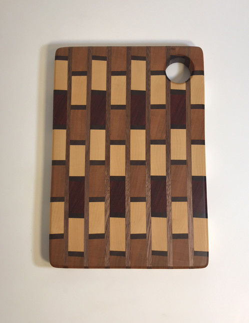 small end grain brick pattern cutting board