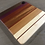 Thumbnail: Medium Square Abstract Gradient Cuttingboard with Bloodwood Highlights