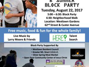 Walk with Mayor Barrett & Summer Block Party
