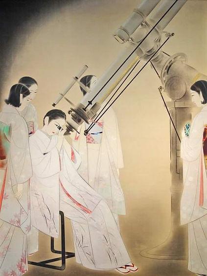 Women Observing Stars, Ota Chou, 1936.jpg