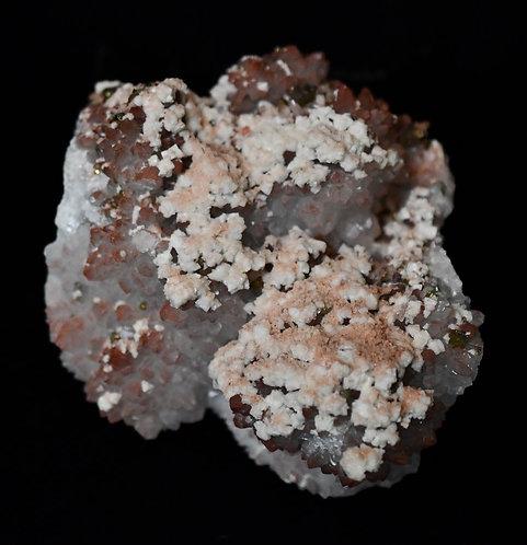Quartz w/ Hematite,Calcite, Pyrite, Galena