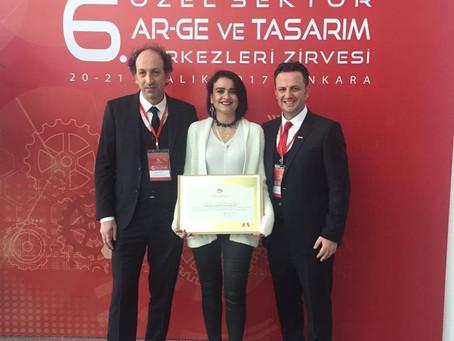 "Kaplanlar Received ""R&D Center"" Certificate"