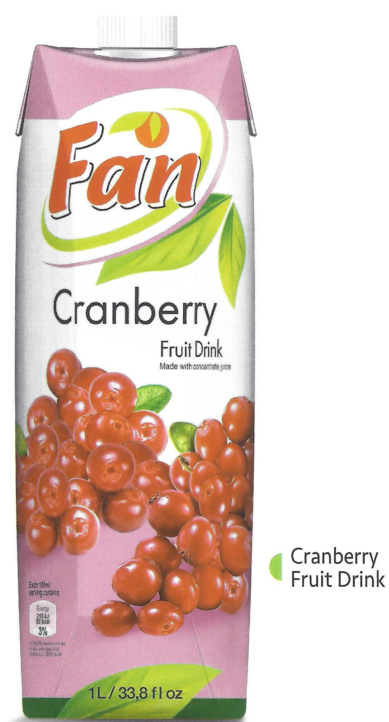 Fan Cranberry Fruit Drink 1L