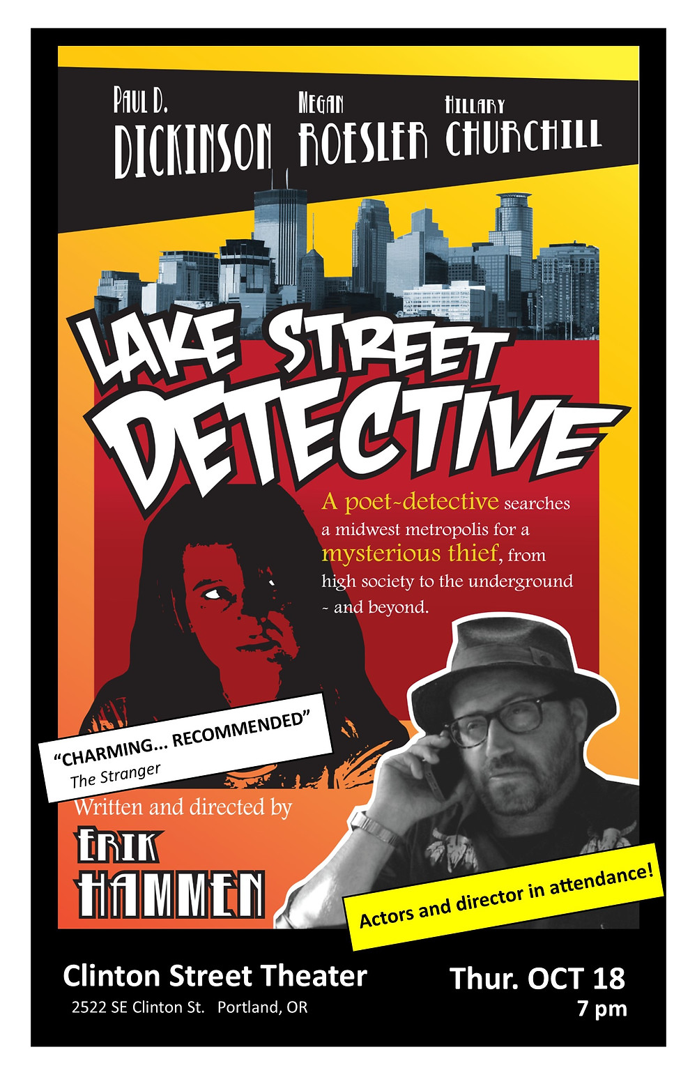 Lake Street Detective, Clinton Street Theater, Portland