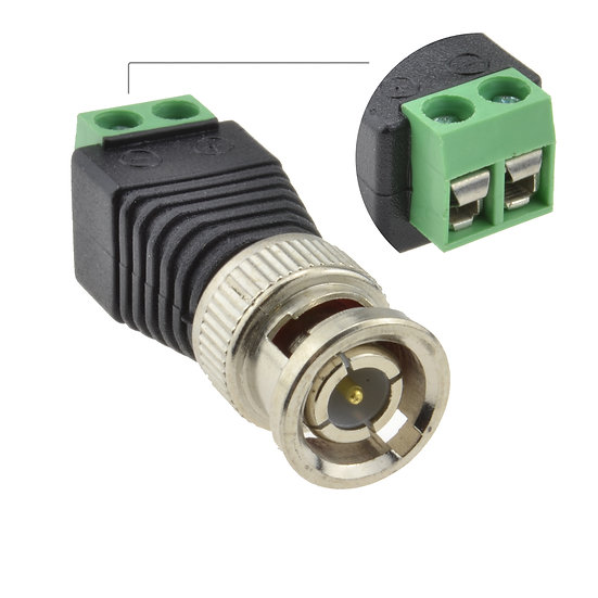 BNC to DC Video Balun  Pasivo Cctv Conector Cámaras analógica hasta 30 metros
