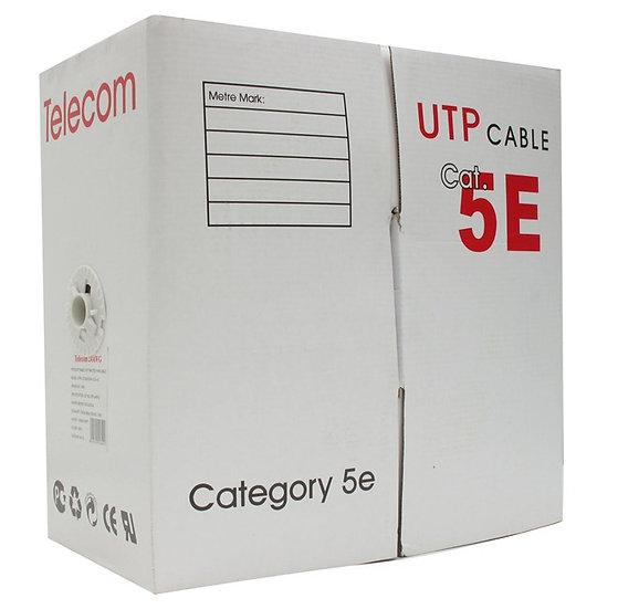 Rollo de cable UTP Cat 5e, 305 Metros, 50% cobre, 50% aluminio.