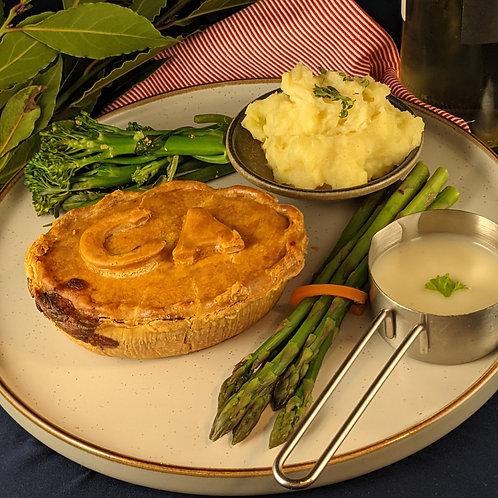 Chicken, White Wine & Asparagus Pie