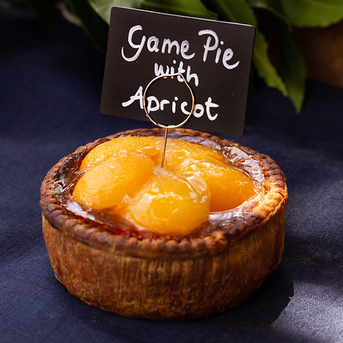 Game Pie with Apricot Top