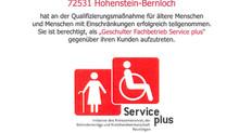Service PLUS Geschulter Fachbetrieb mit Zertifikat
