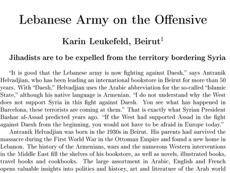 Lebanese Army on the Offensive