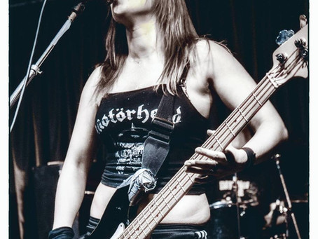 Rock Goddess new bass player!