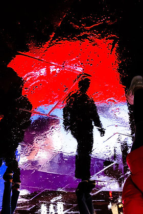 Piccadilly Puddle - Fine art street photography by Chris Silk