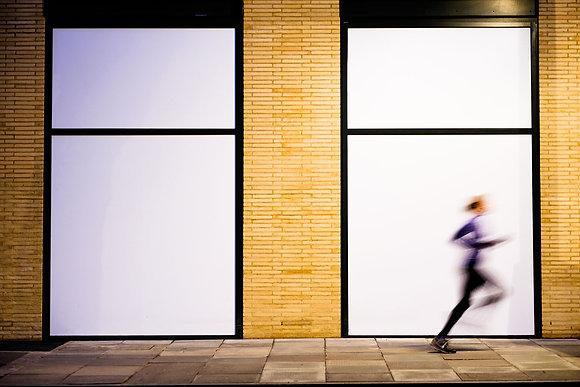 Run Like The Wind - Fine art street photography by Chris Silk