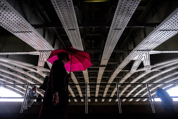Red and Blackfriars - Fine art street photography by Chris Silk