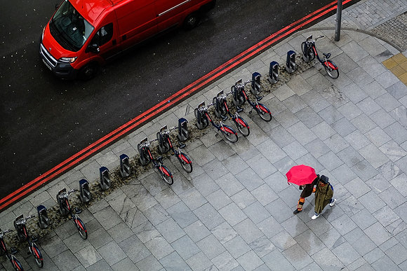 Red Route - Fine art street photography by Chris Silk
