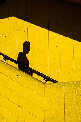 Stair Shadows - Fine art street photography by Chris Silk
