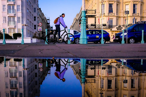 Reflections on the Promenade - Fine art street photography by Chris Silk