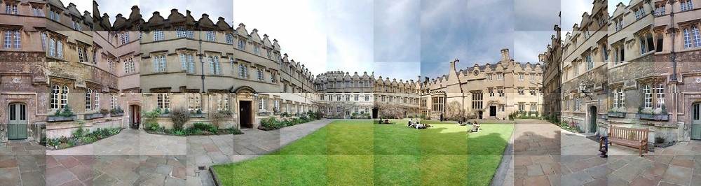 Panoramic Photo Collage of Jesus College, Oxford