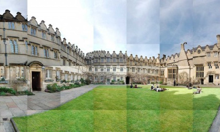 New panoramic photo collage – Jesus College, Oxford