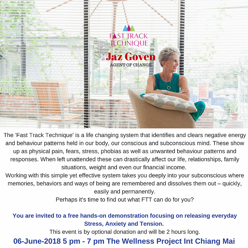 Managing Stress, Anxiety & Tension with Jaz Goven.