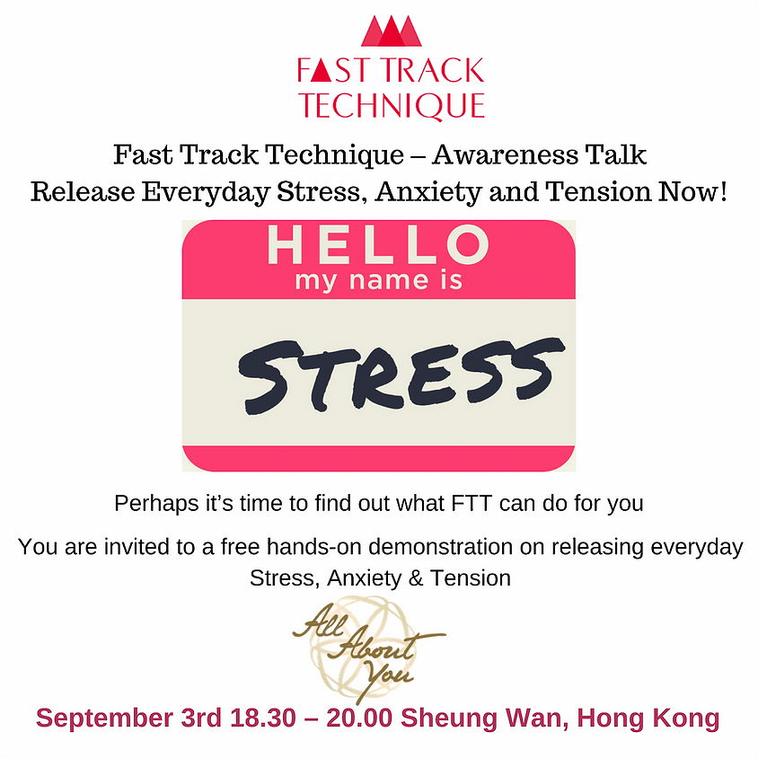 Hong Kong - Release Everyday Stress, Anxiety and Tension Now!