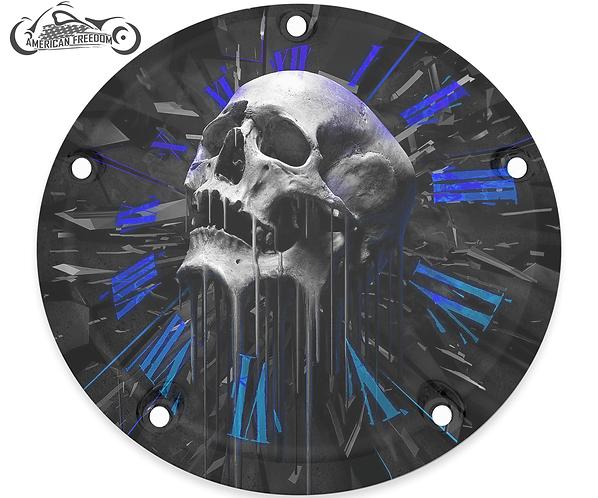 SKULL CLOCK (BLUE)