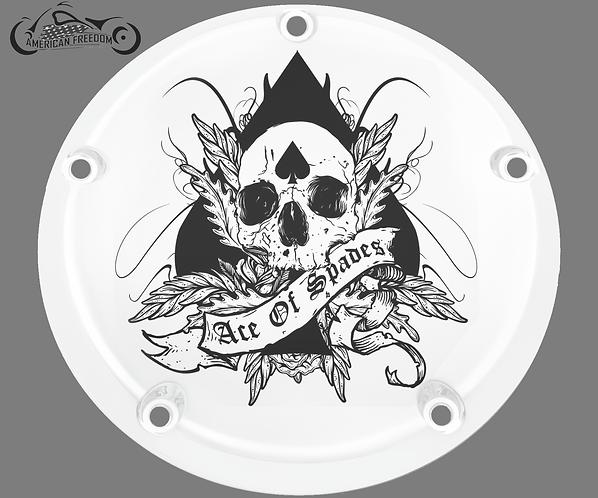 ACE OF SPADES SKULL (WHITE)