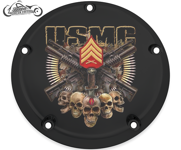 USMC 5 SKULLS (ALL RANKS + ALL DIVISIONS AVAILABLE)
