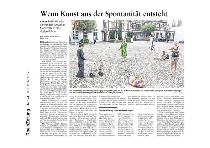 Article du journal allemand « RheinZeitung »