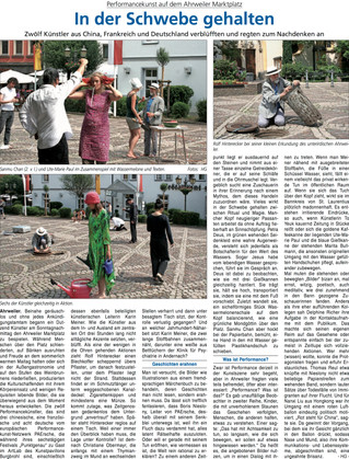 Article du journal allemand «Blick aktuell Bad Neuenahr-Ahrweiler»