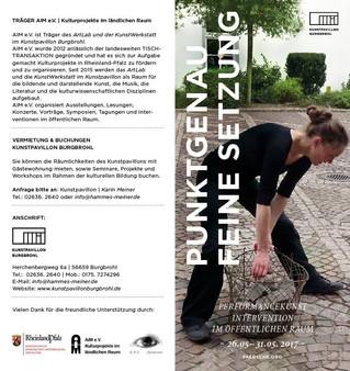 """""""Punktgenau feine setzung"""", interventions performatives dans l'espace public du 26 au"""