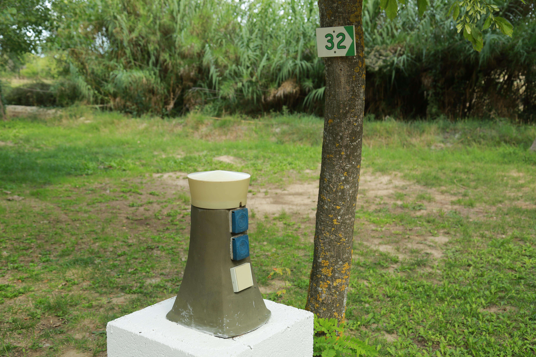 Borne électrique au Camping Le Garel