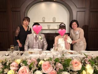 会員さんの結婚式にお招き頂きました♡