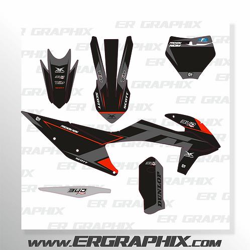 KIT DECO BLACK KTM 125-450 SX / SX-F / EX-C choisissez l'année dans l'article