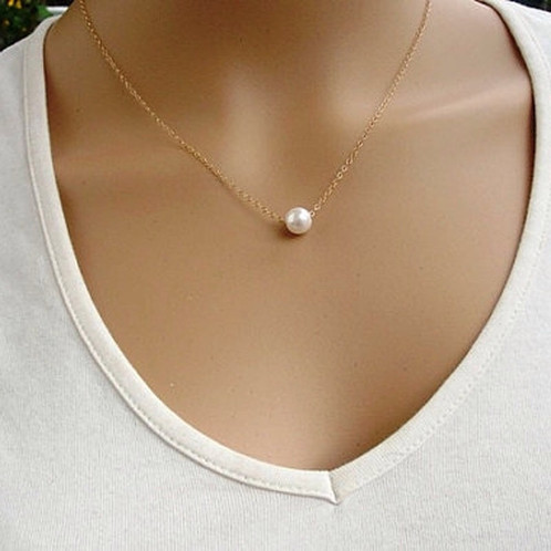 Gold chain with pearl pendant mozeypictures Gallery