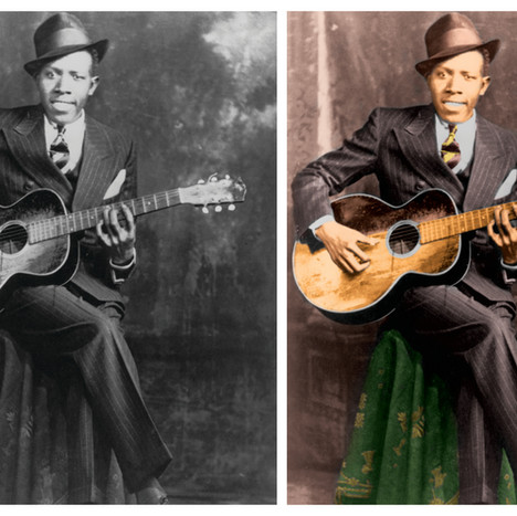 Robert Johnson Colorized Image