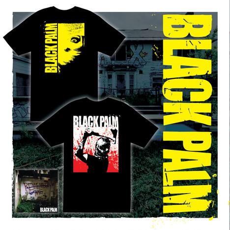 Black Palm T-Shirt Designs