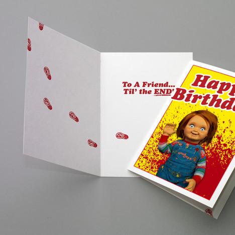 Child's Play Themed Birthday Greeting Card