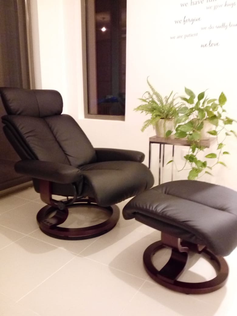 Image of: Mid Century Modern Design Standard Manual Swivel Recliner With Ottoman Luxury Life