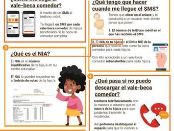 INSTRUCCIONES PARA DESCARGAR EL VALE-BECA DEL COMEDOR