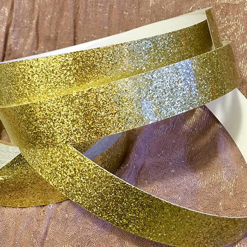Gold Retro Glitter Taped Polypro Hoop