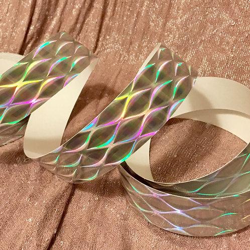 Silver Bobokataan Holographic Taped Polypro Hoop